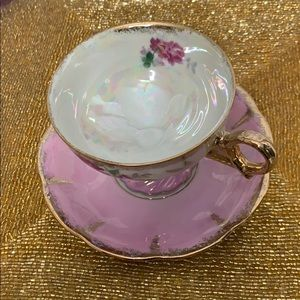 Vintage Kitchen - Vintage teacup & saucer floral Japan
